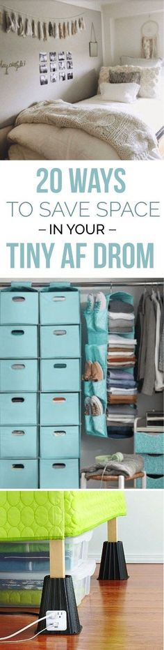 20 Space Saving Hacks For Your Tiny AF Freshman Dorm - Society19
