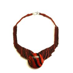 Red character necklace | Ifat Nesher