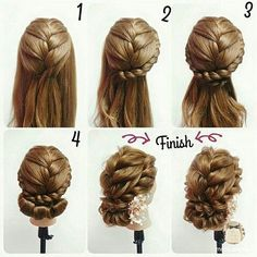 Wedding Hairstyles: A 7 Step Plan For Perfect Hair Vintage Hairstyles, Braided Hairstyles, Wedding Hairstyles, Competition Hair, Hair Due, Ear Hair Trimmer, Natural Hair Styles, Long Hair Styles, Flower Girl Hairstyles
