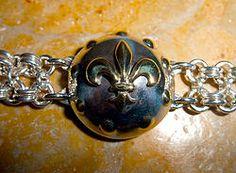 Bracelet Fleur de Lys cotte de mailles .