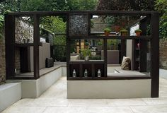 'Cube Play' by Earth Designs A modern contemporary minimalist garden in Maida Vale, Queens Park London W2