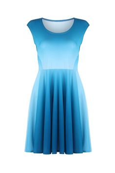 Dip Dye Blue Shift Dress