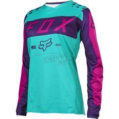 Fox Women's Purple/Pink 180 Jersey - 17273-533-L  ATV Dirt Bike - Dennis Kirk, Inc.