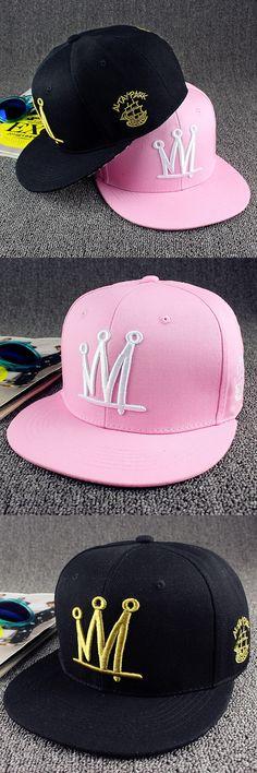 Trendy Men's Women's Crown Baseball Snapback Hat Hip-hop Sports Outdoors Cap Adjustable