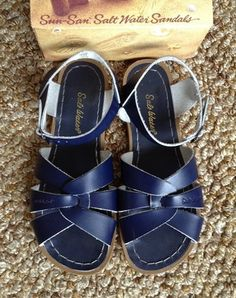 3da48afe9ef Saltwater Sandals Navy Blue 8 Urban People Buckle Strappy Leather Free