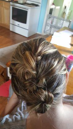 Knot braided bun Easy peasy hair styles