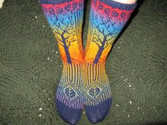 Tree of life socks by lupingirl