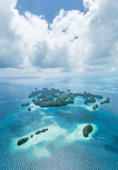 Rock Islands of Palau Micronesia Aerial Photography
