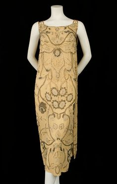Beaded silk dress, circa 1923, from the Vintage Textile archives.