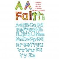 Behind Hazel Eyes Applique Alphabet by Juju  2 inch, 3inch, 4 inch, 5inch Satin and ZigZag finish