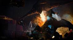 Pacific rim: Protectors of the Earth by Ucaliptic.deviantart.com - PR x Gamera x Godzilla