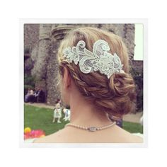 Lace headpiece — Bridalwear — Bee Smith Fashion Accessories via Polyvore