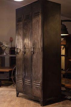 meuble vestiaire usine 1930 metal