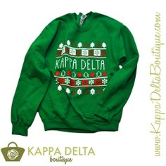 Holiday Sweatshirt just for Kappa Delta ladies!! Extremely limited quantities! You don't want to miss out on this sweatshirt!