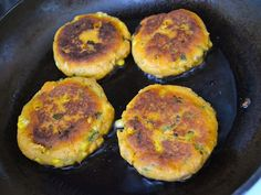 Sweet Potato Corn Cakes with Garlic Dipping Sauce - Budget Bytes