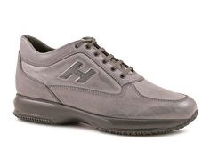 Scarpe Hogan Interactive uomo in pelle antracite - Italian Boutique €186