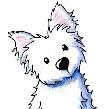 Image result for west highland white terrier dibujo