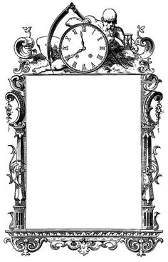 Tick-Tock Frame - public domain - free to use