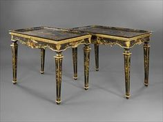 Galerie Monin | Meubles - Paire de consoles en laque vénitienne