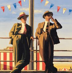 Seaside Sharks by Jack Vettriano