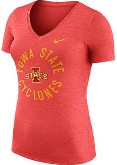 39945ca556ffdc NIKE TEAM Women s Nike Iowa State Cyclones College Dri-FIT Touch V-Neck T- Shirt