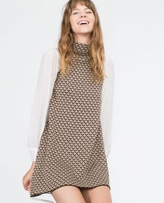 Image 3 of MICRO JACQUARD DRESS from Zara