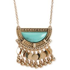 Aeropostale Turquoise Long-Strand Pendant (13 BRL) ❤ liked on Polyvore featuring jewelry, necklaces, bermuda turquoise, bohemian style jewelry, boho jewelry, green turquoise jewelry, pendant jewelry and aeropostale jewelry