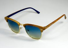Gafas de Sol #STMATHEWS WOOD BLUISH BROWN/BLUE GRADIENT