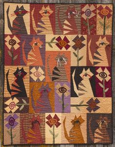QUILT   Crazy Cats design, Buggy Barn: