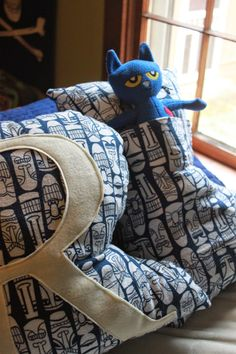 great tween gift, or anybody gift...letter pillow with a pocket on the back!