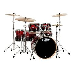 PDP Concept Maple by DW 6Piece Shell Pack Red To Black Fade >>> Be sure to check out this awesome product.(It is Amazon affiliate link)
