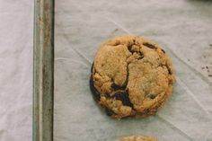 vanilla bean: whole wheat chocolate chip cookies. with spelt, and fleur de sel, and cacao nibs.