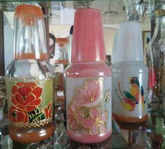 Pintura em garrafa de vidro