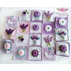 Crochet cushion cover, handmade cover in cotton and natura Granny Square Crochet Pattern, Crochet Squares, Crochet Granny, Crochet Blanket Patterns, Diy Crochet, Crochet Cushion Cover, Crochet Cushions, Crochet Capas, Crochet Flowers