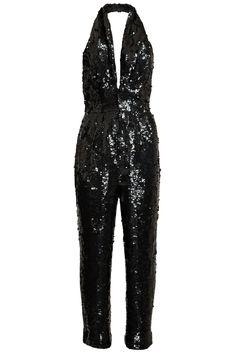Black Sequined Jumpsuit