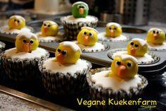 ...und fertig sind die Küken-Cupcakes!