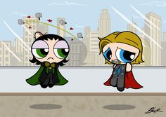 The Avengers Puffs - Thor and Loki by =caycowa on deviantART