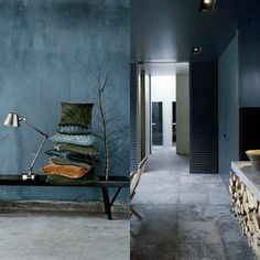 Micro trend | Moody blue walls |