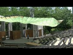 Sara Stellick of The American Players Theatre in Spring Green, Wisconsin, describes how they utilized a military cargo parachute, purchased from Govliquidation.com, to provide shade for their matinee performances.