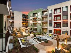Relaxing Courtyard At AMLI Ponce Park, Brand New Apartments In Historic Old  Fourth Ward!