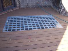 Glass Tiles & Floor for the deck Glass Floor, Glass Tiles, Bahay Kubo, Deck Over, Glass Stairs, Glass Brick, Roof Gardens, Construction Services, Skylights