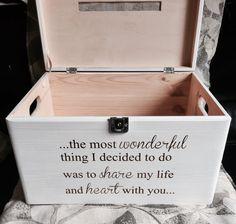 Wooden lockable card box wedding card post box by PollyannasGifts