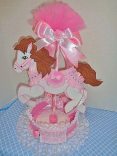 Carrousel Horse Centerpiece by Mylittleshopsupplies on Etsy