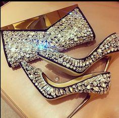 Jimmy Choo - amazing crystal high heel pumps and bag! Can you say birthday present! Lol