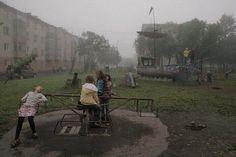 "architectureofdoom: "" Playground in Petropavlovsk-Kamchatsky, Russia, by Sergey Maximishin "" Dark Tales, Lise Sarfati, Grunge, Indie, Nostalgia, William Eggleston, Edward Hopper, Story Inspiration, Looks Cool"