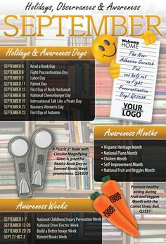 September 2014 Holidays, Observances, and Awareness Dates to Help Plan Your Promotions! September Holidays, 11. September, National Holiday Calendar, September Activities, September Calendar, Patriots Day, Marketing Calendar, Holiday Day, Weird Holidays