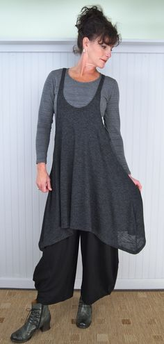 Alembika Cool Layering Tunic and Punto Trouser with Gidigio Victoria Boot (Tee is a model's prop)