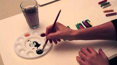 Anvendelse af oliepastel - Britta Johanson viser, hvordan man kan bruge oliepastel sammen med akvarel