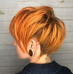 Ginger Pixie With Side And Back Undercut