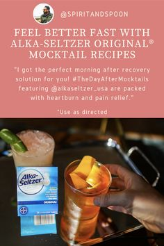 Gastritis Diet, Heartburn, Alcohol Recipes, Drink Recipes, Bartender Recipes, Alka Seltzer, The Day After, Reduce Bloating, Healthy Food